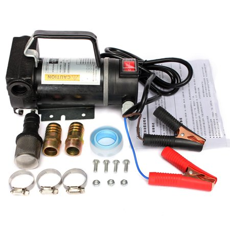 Car Portable Electric Fuel Diesel Oil Extractor Transfer Pump 45L/Min Vehicle Auto SUV Van Truck 12V 200W US