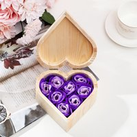 Siaonvr Rose Soap with Wooden Gift Box for Valentine's Day Birthday Celebration Gift