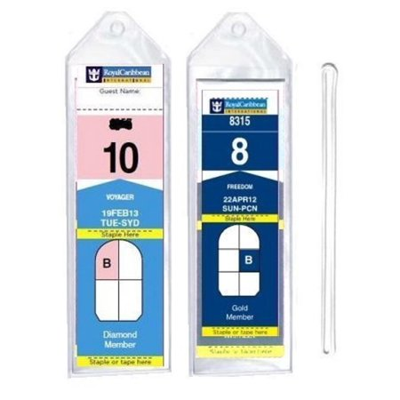 8 Pack Of Cruise Tags  Narrow  For Royal Caribbean And Celebrity Cruise Ships