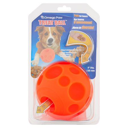 Omega Paw Treat Ball Treat Dispensing Dog Toy