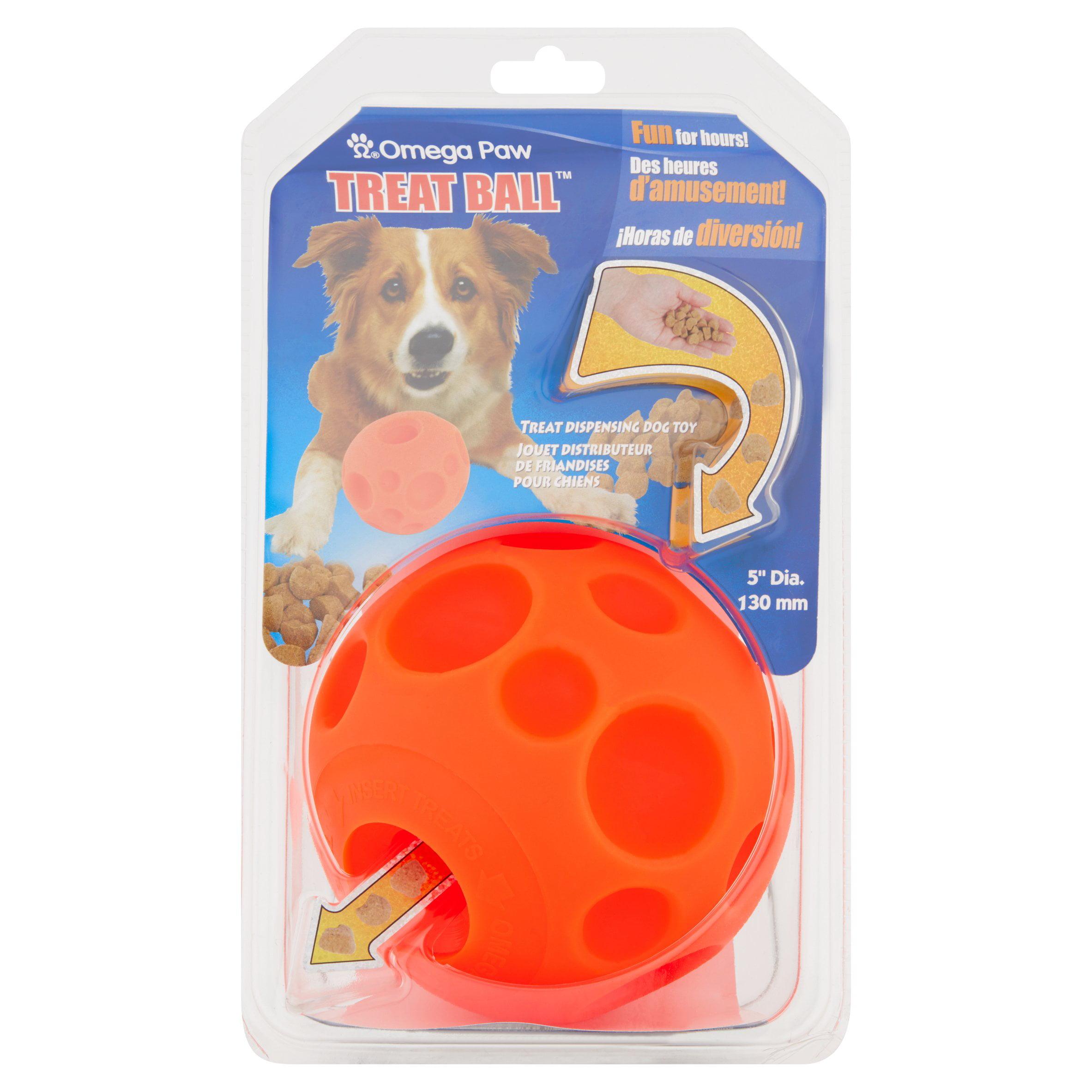 Omega Paw Treat Ball Treat Dispensing Dog Toy