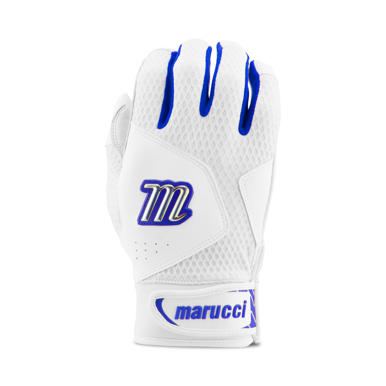 Marucci Adult Quest 2.0 Batting Gloves - White Royal