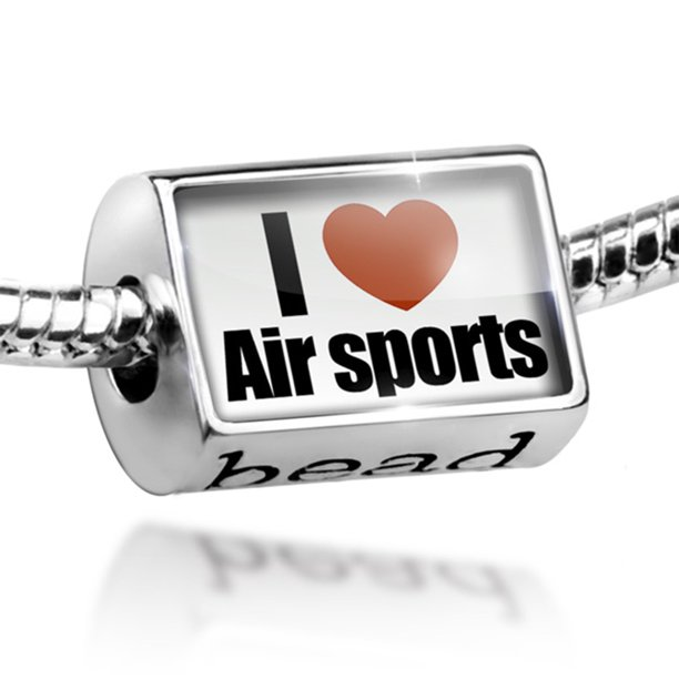 Bead I Love air sports Charm Fits All European Bracelets