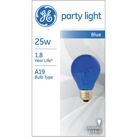 General Electric 25W Incandescent Party Light Blue