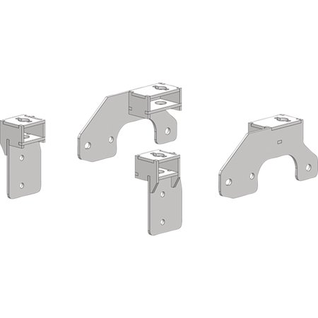 Pullrite 3345 Traditional Series SuperRail Mounting Kit for 1999-2010 Chevy GMC 2500 & 3500 & 1999-2007 1500 (6 1/2