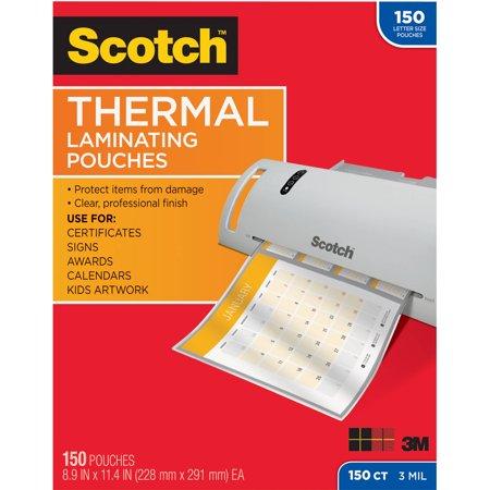 Scotch Thermal Laminating Pouches 150Pk
