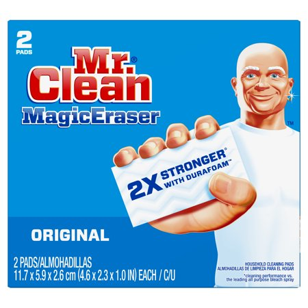Mr. Clean Magic Eraser Original, Cleaning Pads with Durafoam, 2 count