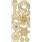 Dazzles Stickers-Gold Stenciling
