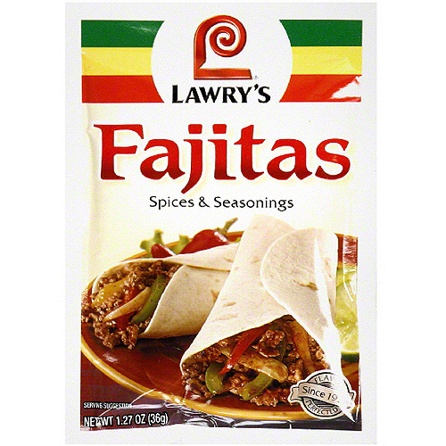 Lawry's Fajitas Seasoning, 1.27 oz (Pack of 24)