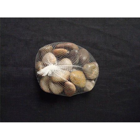 Athenas Garden PR-LG-W 0.8-1.2 in. Large Polished Stone Bag, 2 lbs - Crystal White Limestone