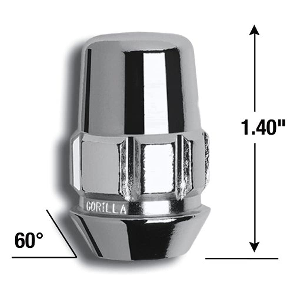 For 5 Lug Wheels Gorilla Automotive 78683N The System Acorn Open End Wheel Locks 1//2 Thread Size