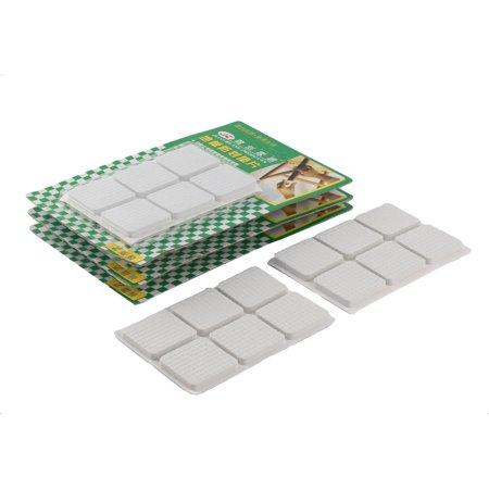 Floor EVA Square Anti Slip Chair Furniture Feet Pad Cover White 30 x 30mm 48pcs - image 2 de 2