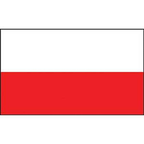 "Poland Flag On Stick 4"" x 6"""