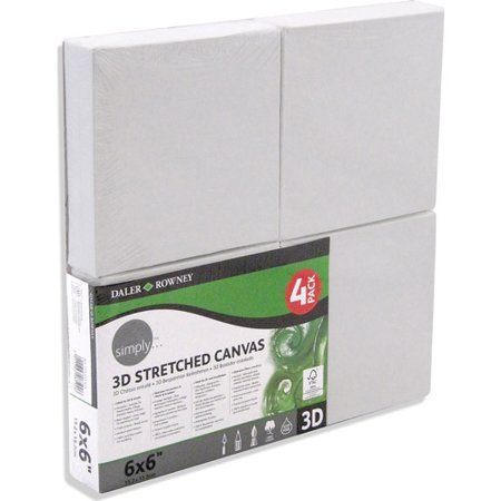 Simply 3D Stretched Canvas  6   X 6    4 Pk