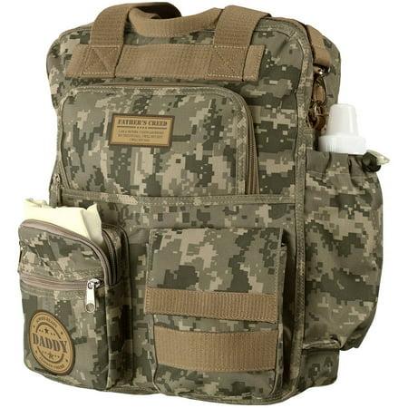 Lillian Rose Daddy Military Diaper Bag