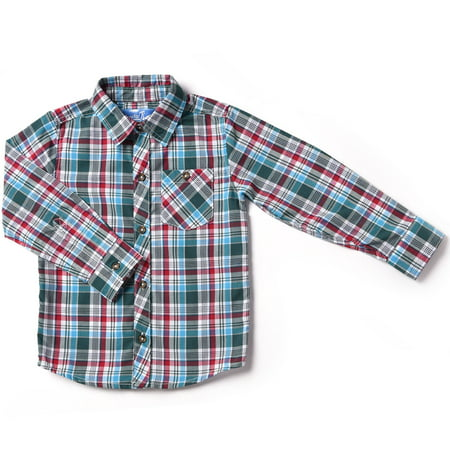 Kapital K Baby Toddler Boy Plaid Button-Down Shirt