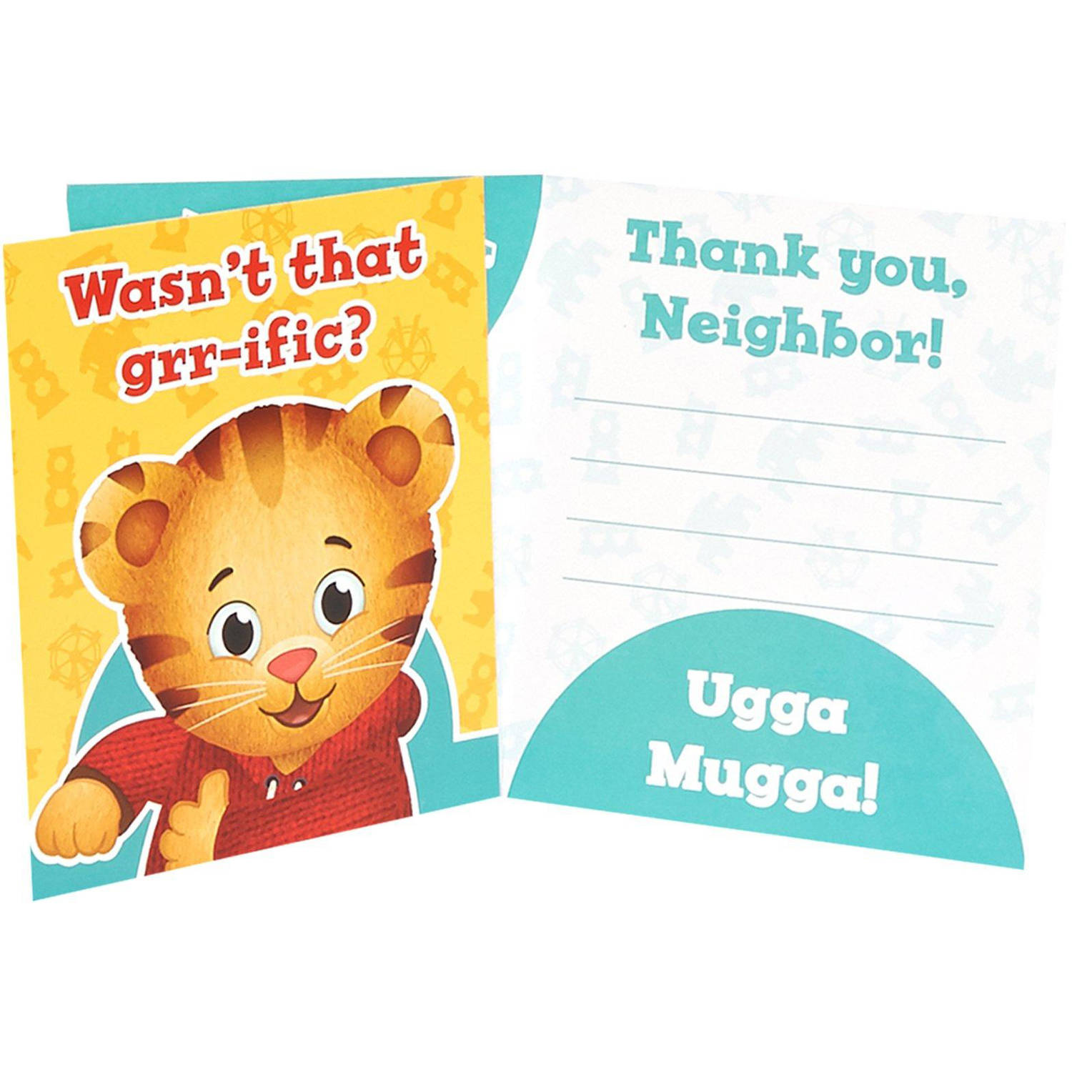 Daniel Tiger's Neighborhood Thank You Notes