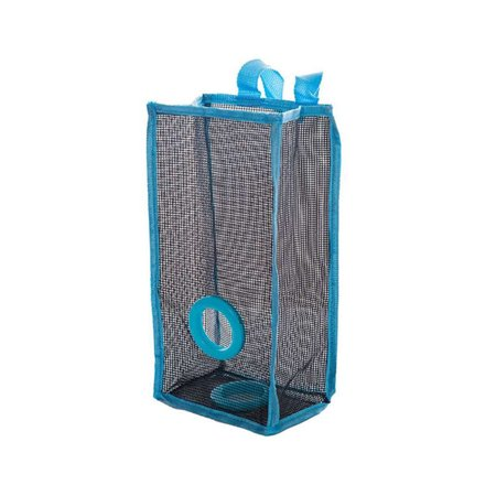 Hanging Folding Mesh Garbage Bag Organizer Trash Bags Holder Recycling Containers Storage For Kitchen   Size S Blue