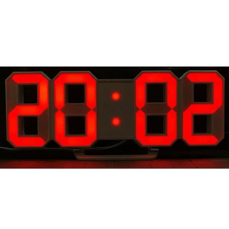 Modern Digital LED Wall Clock Table Desk Night Electric Clock Alarm Watch Multi-Functional LED Clock 24 or 12 Hour
