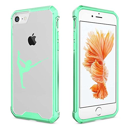 For Apple iPhone Clear Shockproof Bumper Case Hard Cover Female Gymnast Twirling Baton Gymnastics (Mint for iPhone 6/6s)