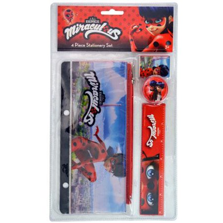 Miraculous Ladybug 4pc Stationery Set in bag w/Header