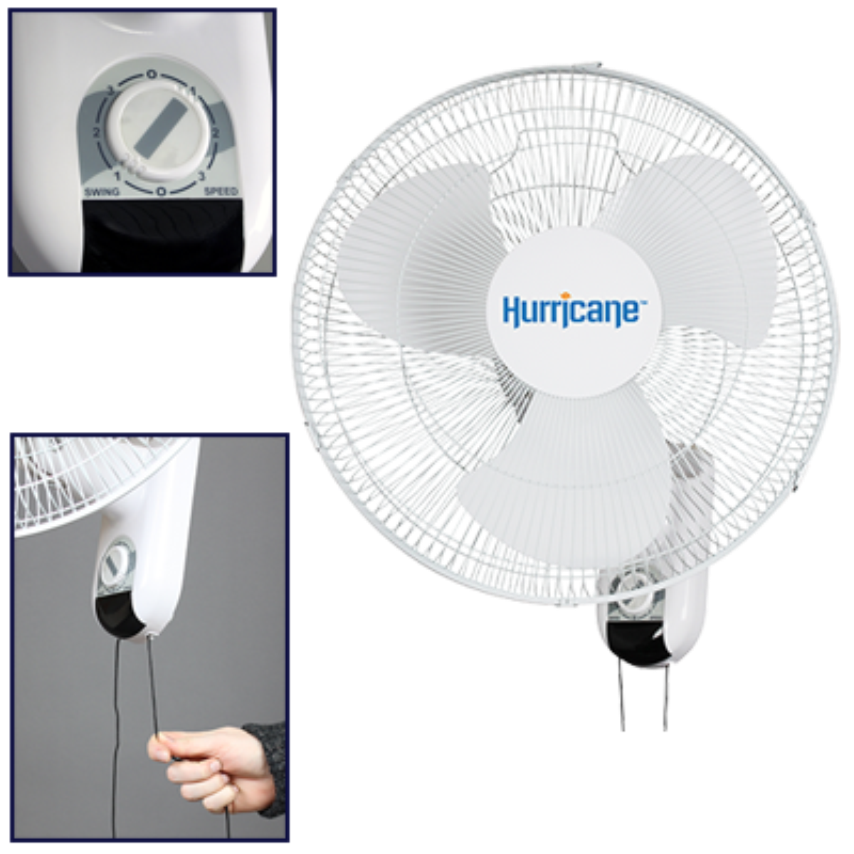 Hurricane 736503 classic wall mount oscillating fan 16 inch hurricane 736503 classic wall mount oscillating fan 16 inch walmart amipublicfo Image collections