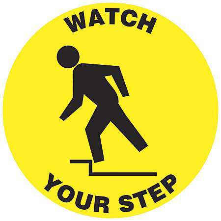 ACCUFORM Floor Sign,8In,Watch Your Step,PK2, MFS213