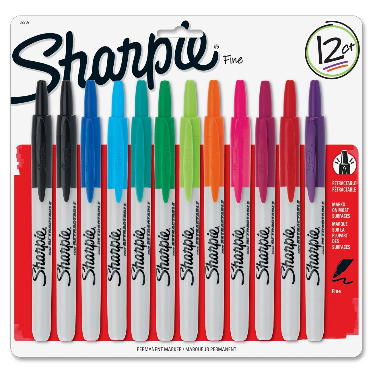 Sharpie Retractable Fine Point Markers