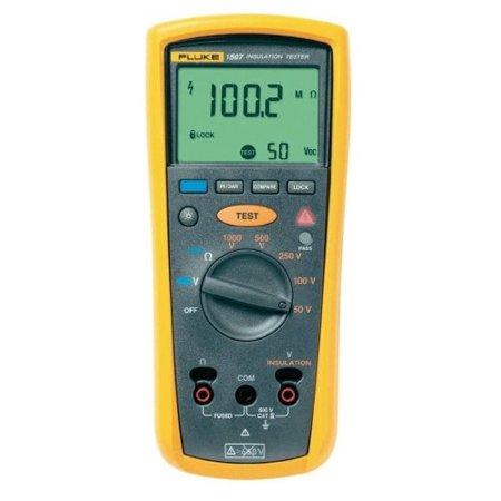 Fluke 1507 Digital Megohmmeter, 50/100/250/500/1,000V Test Voltages, 10 Gigaohms Insulation Resistance, 20 Kilohms Low-Resistance, 600V Voltage Detection