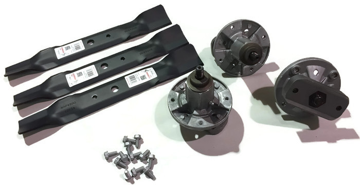 """Set of 3 Spindles L120 L130 L2048 L2548 for 48/"""" GY20785 3 Blades GX20250 R10634"""
