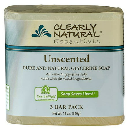 Peppermint Glycerine Soap - Beaumont Products Clearly Natural Essentials Glycerine Soap, 3 ea