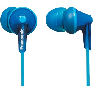 Panasonic ErgoFit In-Ear Earbud Headphones with Mic + Controller, Blue