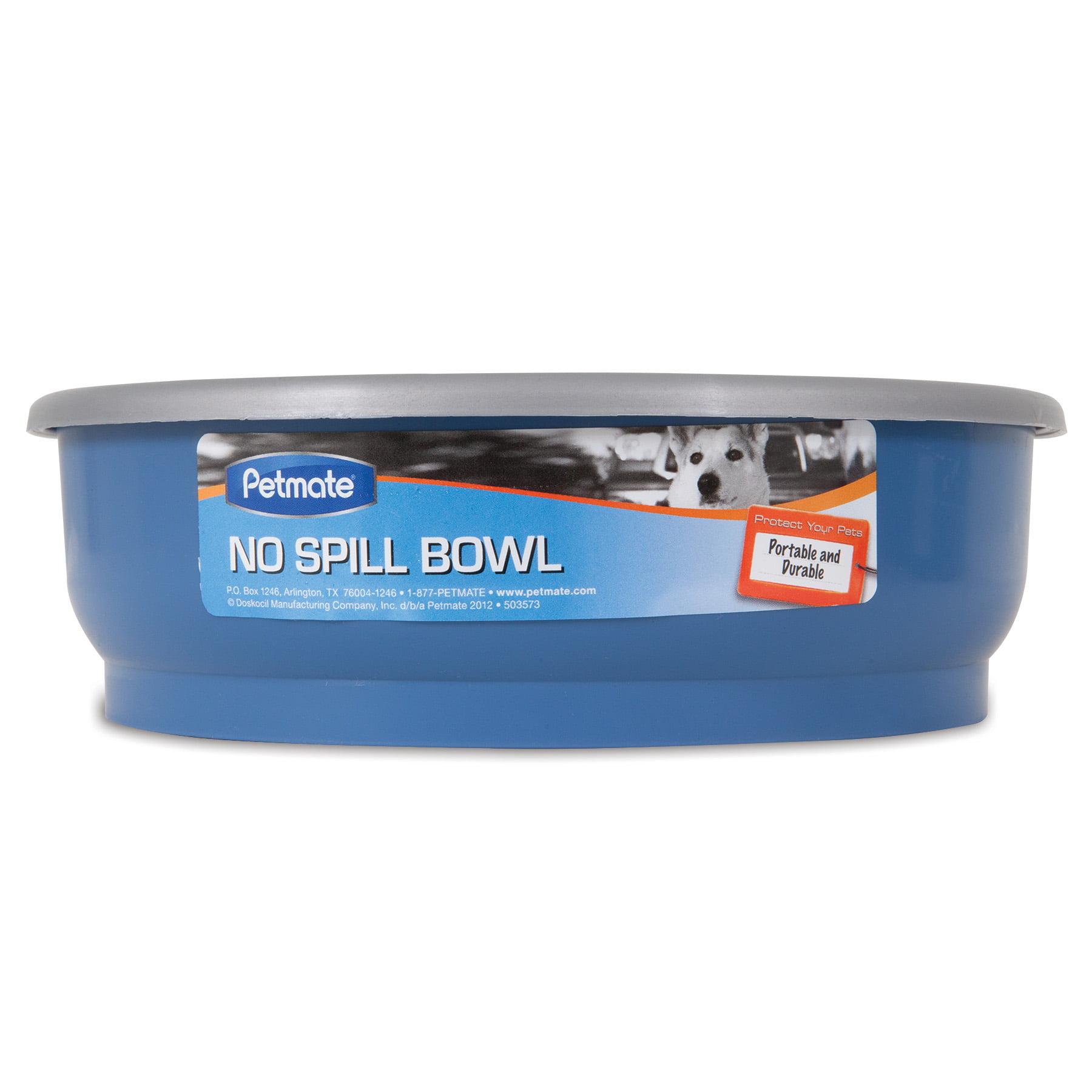 PETMATE NO SPILL BOWL BLUE /& GREY SPLASH PROOF DESIGN 48 OZ FREE SHIP TO USA