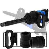 "Industrial 1"" Air Compressor Impact Gun Wrench 1,900 Ft/Lb Long Shank Tool"