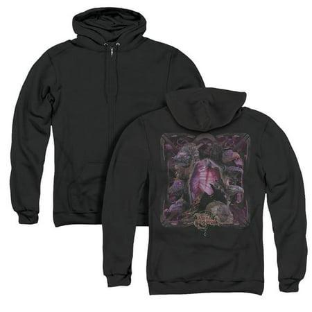 Dark Crystal & Lust for Power Back Print Adult Zipper Hoodie, Black - Medium - image 1 de 1