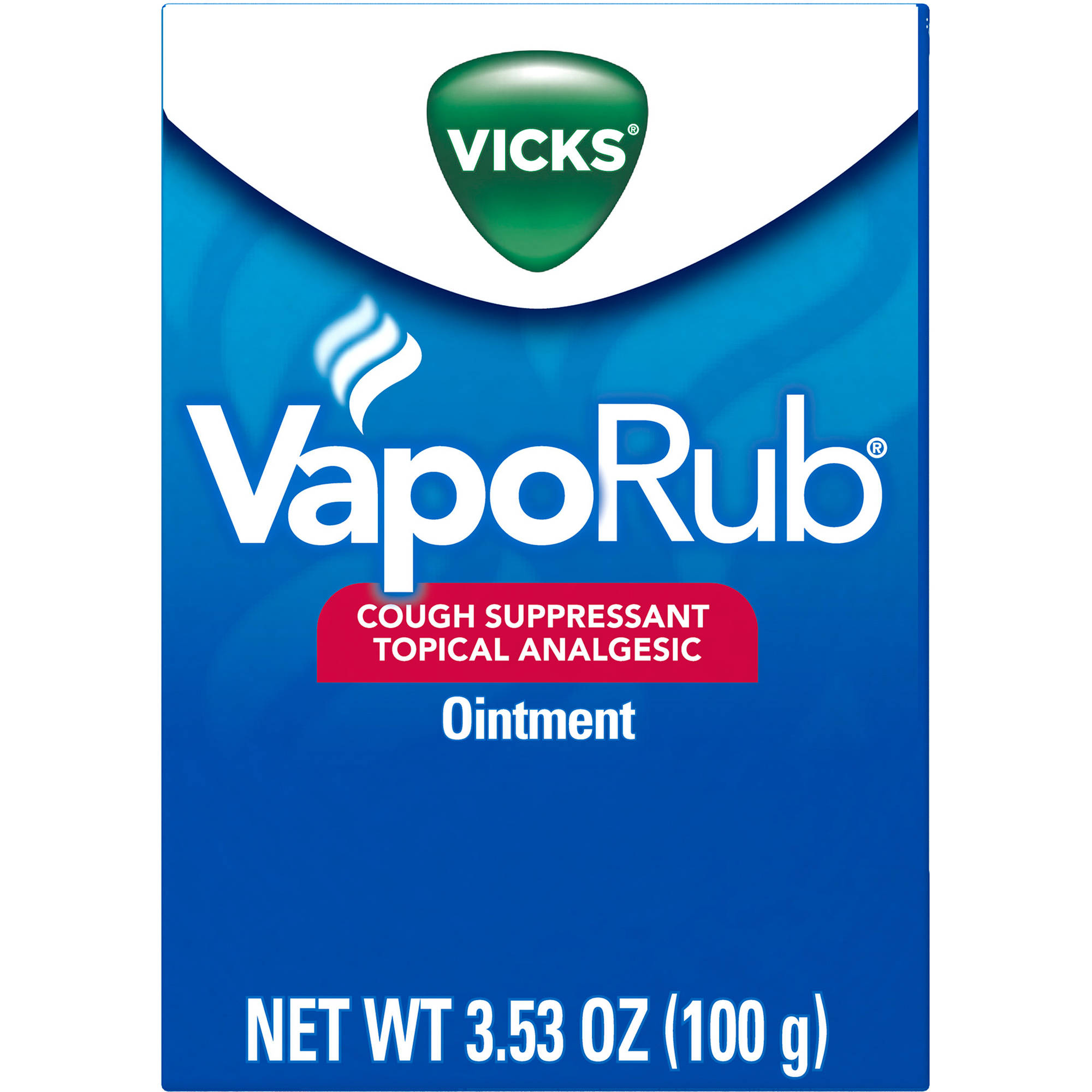 Vicks VapoRub Cough Suppressant Topical Analgesic Ointment, 3.53 oz