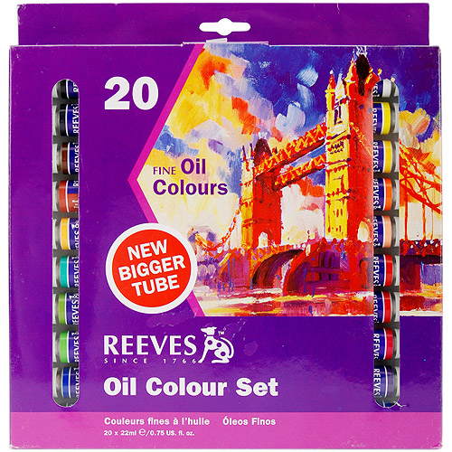 Reeves Oil Paint 22ml, Assorted Colors, 20/pkg