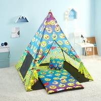 Deals on 4-Piece Emoji Teepee Tent Set WK690801