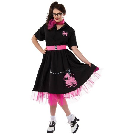 Black/Pink Complete Poodle Outfit Women's Plus Size Adult Halloween Costume