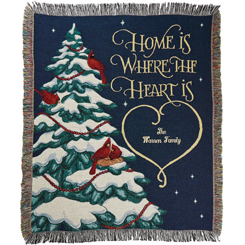 """Personalized """"Home is Where the Heart Is"""" Throw"""