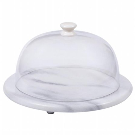 7.5 in. Round Cheese Board with Acrylic Dome,