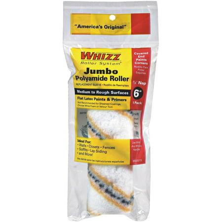 Work Tools International 60015 6-Inch Whizz Premium Jumbo Paint Roller Cover, Gold Stripe Gold Stripe Roller