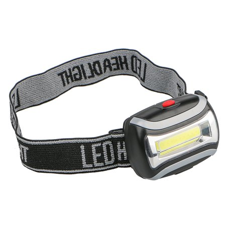 Power Headlamp (TSV Waterproof 2000LM 3 Light Mode COB Headlight Mini LED Light Outdoor Camping Hiking Head Lamp Power by 3x AAA batteries)