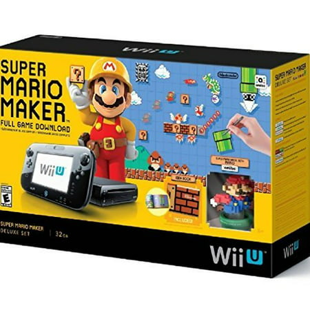 Refurbished Super Mario Maker Console Deluxe Set Nintendo Wii U