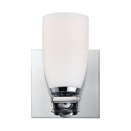 - New Product  Sphere 1 Light Vanity In Chrome And White Opal Glass Sold by VaasuHomes