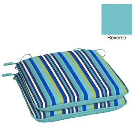 Mainstays Turquoise Stripe Universal Outdoor Seat Pad - Set of 2 ()