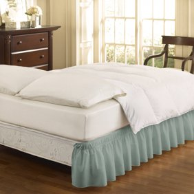 E Maker Extra Long 21 Inch Polyester Bed Skirt Queen White Risers Inche Fba Size Premium Count Black Coolkidz Skirtwrap Inches Available Pack