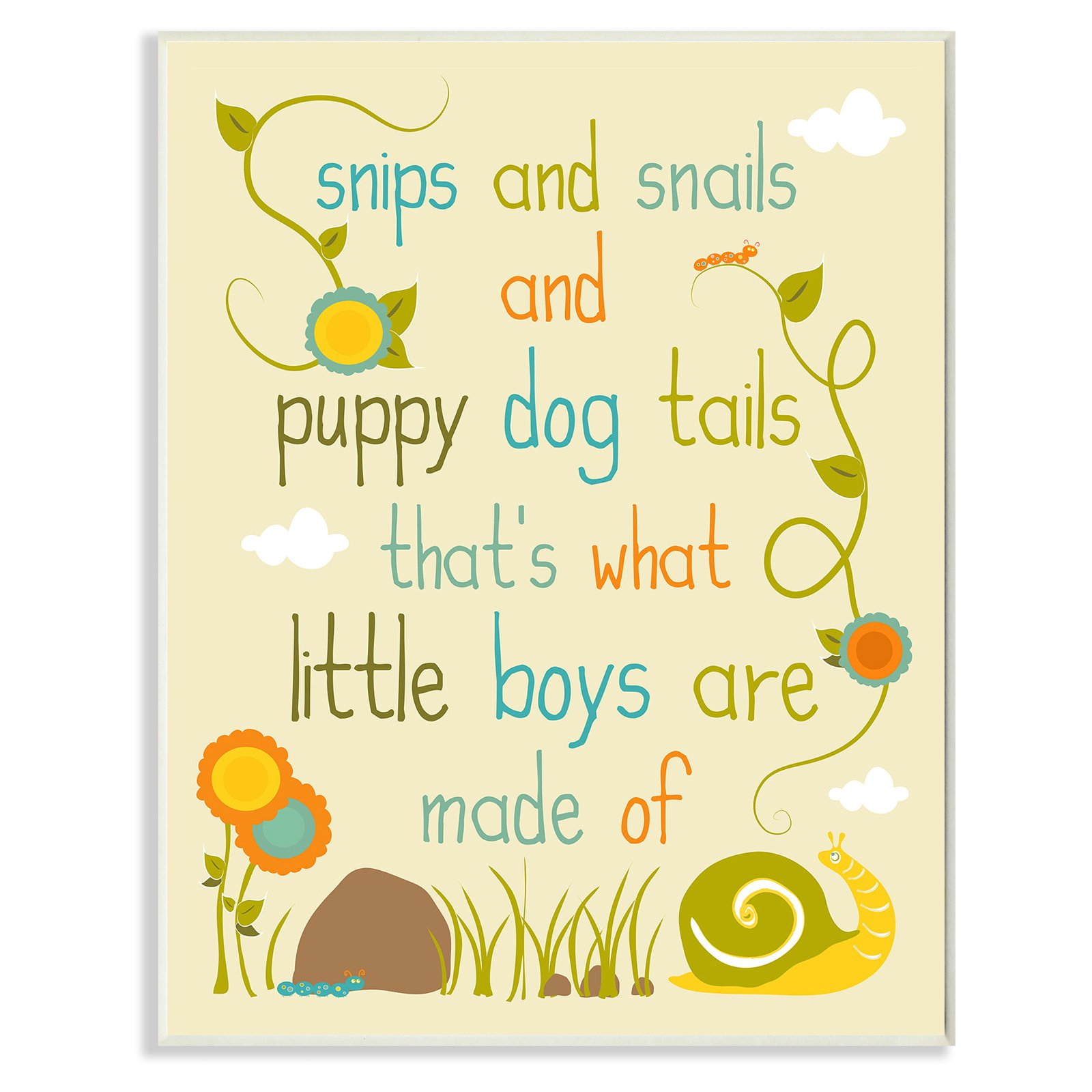 The Stupell Home Decor Collection Snips And Snails And Puppy Dog ...