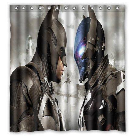 DEYOU Batman Arkham Knight Face Off Panels FP Shower Curtain Polyester Fabric Bathroom Size