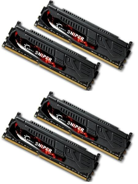 16GB G.Skill DDR3 PC3-19200 2400MHz Sniper Series (11-13-13-31) Quad Channel kit (4x4GB)